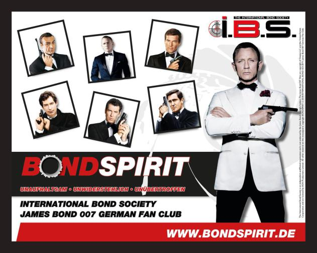 James Bond 007 German Fan Club, International Bond Society, Bondspirit, Besondere Merchandise, Limitiertes Mauspad # 002