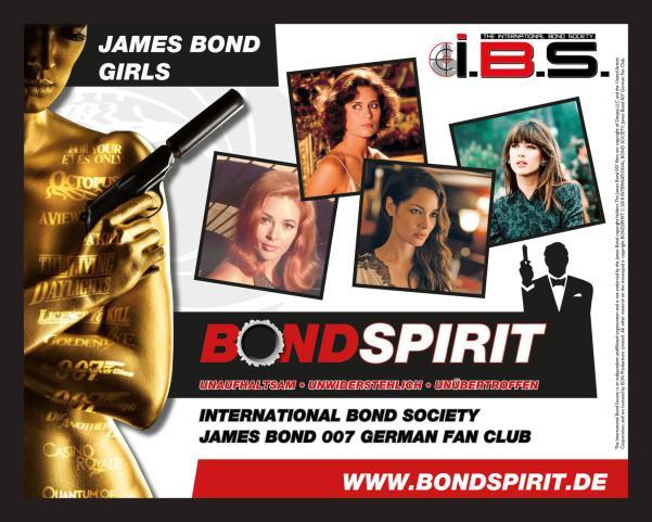 James Bond 007 German Fan Club, International Bond Society, Bondspirit, Besondere Merchandise, Limitiertes Mauspad # 003