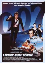 James Bond 007 German Fan Club, International Bond Society, Bondspirit, Galerie, Die James Bond - Hauptplakate aus Deutschland, Lizenz zum Töten